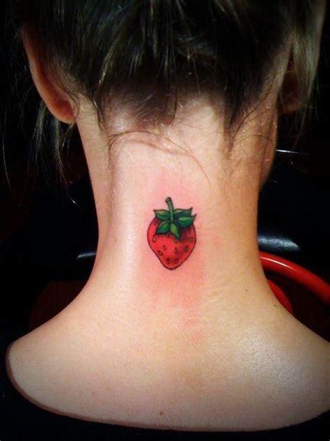 excellent strawberry tattoo ideas  women styleoholic