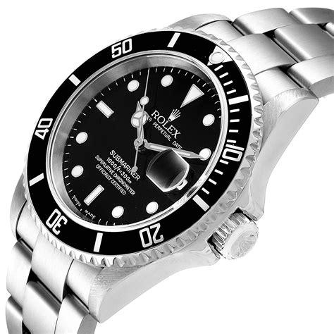 Rolex Submariner Black Dial Stainless Steel Mens Watch ...