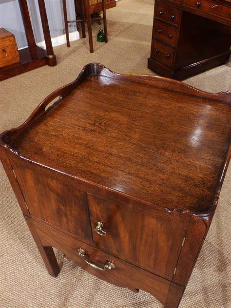 Bedside Cupboard by Antique Bedside Cupboard Tray Top Commode Nightstand