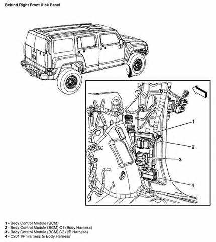 Hummer H3 Light Wiring Diagram by I Own A 2006 Hummer H3 The Trailer Wiring Harness Came