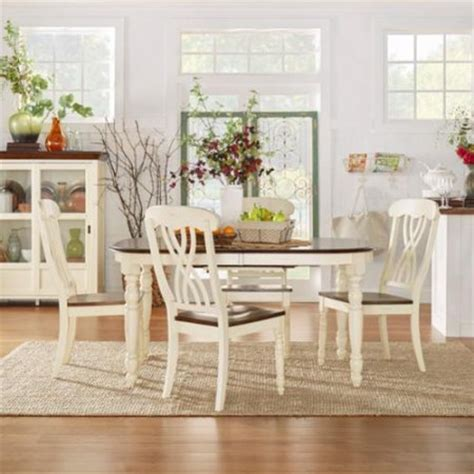 Tribecca Home Mackenzie Dining Set by Tribecca Home Mackenzie Country Antique Dining Set With