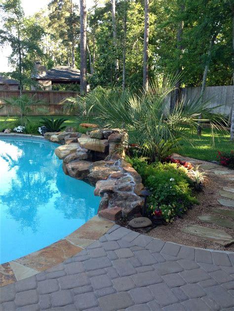 pool landscaping with rocks best 25 rock waterfall ideas on pinterest