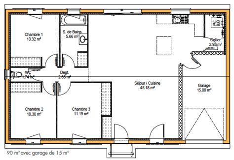 plan maison 4 chambres gratuit cuisine plan de maison simple plain pied plan de maison