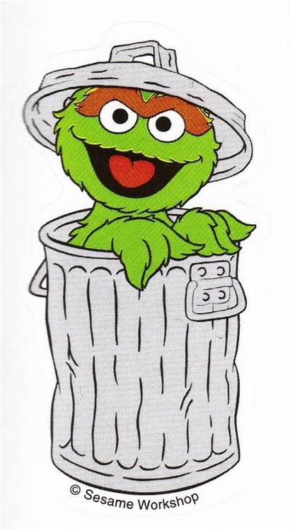 Oscar Grouch Clipart Drawing Sesame Street Clip