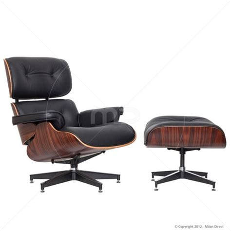 lounge chair and ottoman eames reproduction black