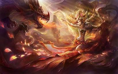 Dragon Summoner Dragons Queen Fantasy Crispme Enregistree