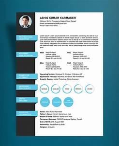 Free Simple Resume CV Design Template PSD File Good Resume