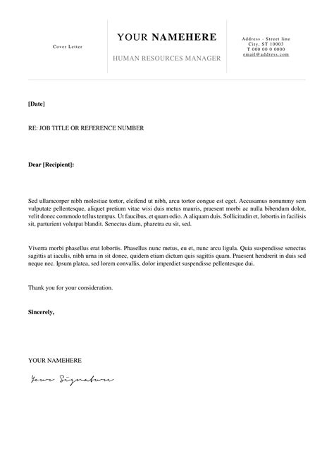 kallio  simple cover letter template  word docx
