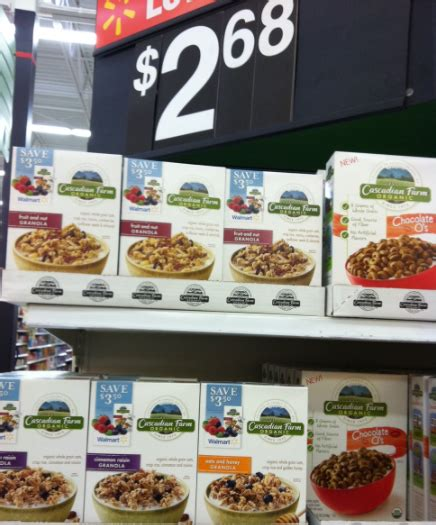 52900 Cereal Magazine Discount Code by Walmart Cascadian Farm Cereal 38 Cost Of Produce