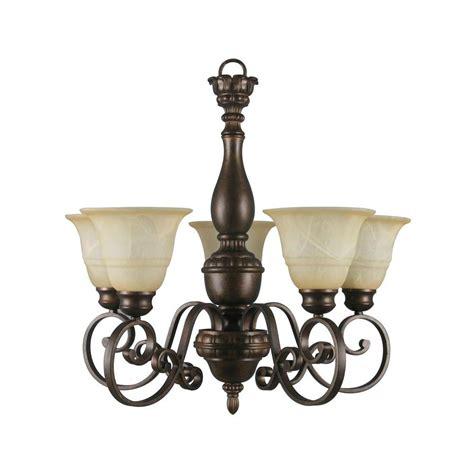 home lighting chandeliers hton bay 5 light aged bronze chandelier with tea