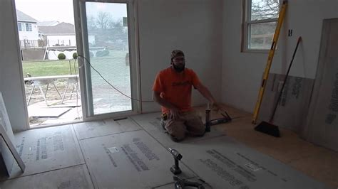 I specified it for an architectural project (a college dormitory renovation to an old. Installing cement board subfloor & prepping for tile floor ...