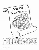 William Wilberforce Coloring Pages History Mystery Slave Trade Myhomeschoolprintables sketch template