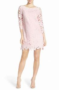 The best lace wedding guest dresses under 100 for fall 2017 for Light pink dress for wedding guest