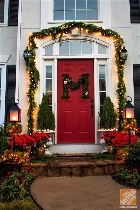 holiday door decorating ideas   small porch