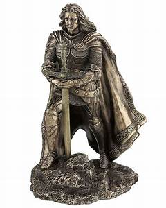 bronze king arthur and the sword in the stone letter With letter statues