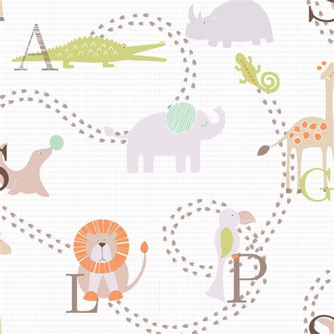 Animal Wallpaper B Q - animal nursery children s wallpaper departments diy at b q