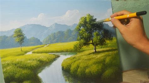 11312 Acrylic Landscape Painting Lesson The River By