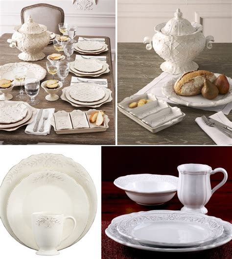 Three Frenchcountry Style Dinnerware Sets  At Home With