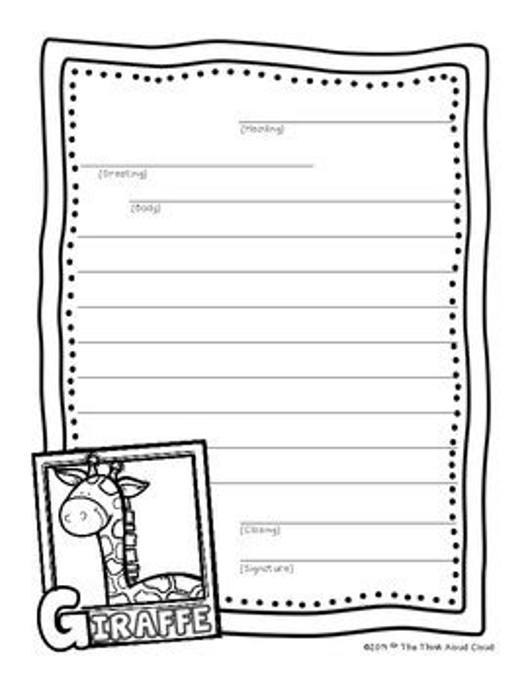 freebie friendly letter writing sample zoo animals