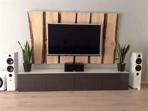 Tv An Wand Anbringen : holz tv wand tv wall wood wohnzimmer pinterest w nde tvs und wald ~ Markanthonyermac.com Haus und Dekorationen