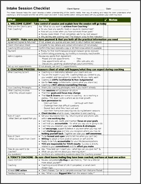 readymade career planning checklist template