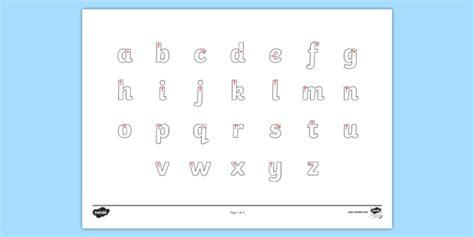 letter formation alphabet handwriting sheet