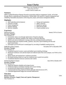 warehouse coordinator resumes unforgettable inventory manager resume examples to stand