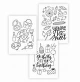 Cards Coloring Printable Greeting Birthday Amber Adult Occasion Damasklove Kemp Gerstel Styling Downloads Visit sketch template