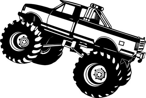 monster truck drawings google search silhouette cameo