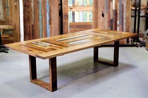 53. Triple panel dining table on 60mm timber box ends