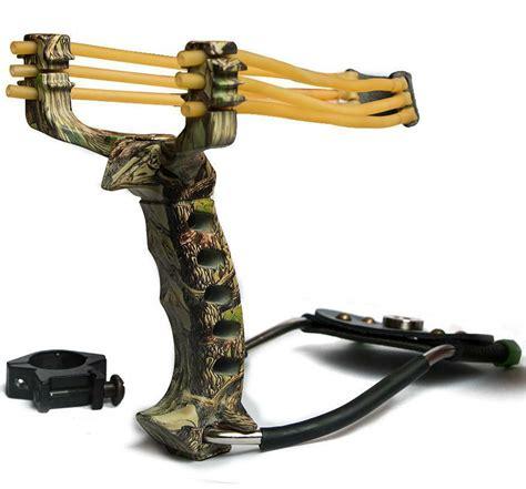 New High Velocity Hunting Slingshot Catapult Wrist Arrow