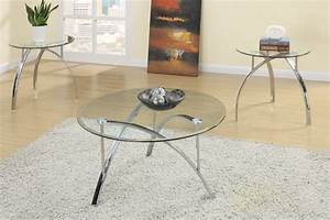 poundex f3098 3pc coffee table set genesis furniture With set of 3 round coffee tables