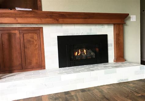 Home Projects  Wood Burning Fireplace To Gas Insert