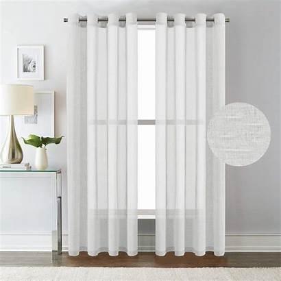 Sheer Grommet Curtains Linen Panels Curtain Versailtex