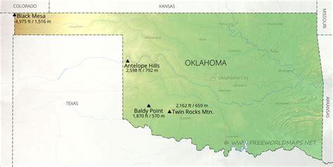 physical map  oklahoma