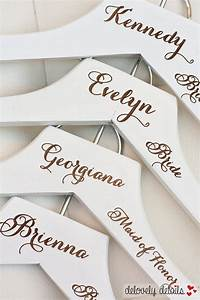 1 personalized white wedding dress hanger with wedding party With personalized wedding dress hanger