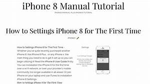 Iphone 8 User Guide Tutorial Tips And Tricks