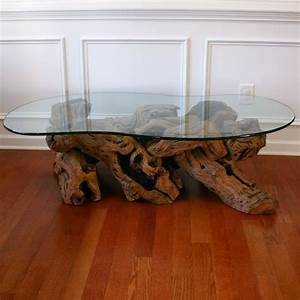 driftwood coffee table with glass top cocktail beach zen With driftwood coffee table with glass top