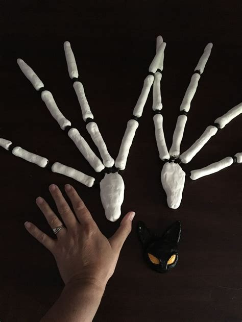jack skellington hands   air dried clay  wire