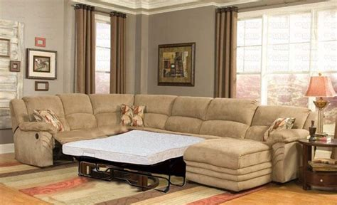 Leather Sectional Sleeper Sofa With Recliners by Sectional Sofa With Recliner And Sleeper Brown Leather
