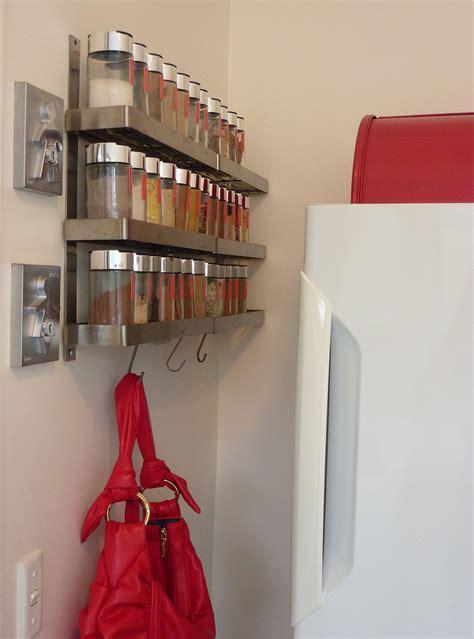 elegant wall mounted spice rack decorating ideas