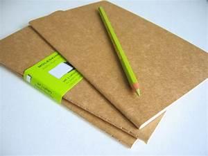 Carnet Page Blanche : pack de 3 cahiers moleskine couverture carton kraft ~ Teatrodelosmanantiales.com Idées de Décoration
