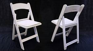 Rent white resin folding chair with padded seat: Iowa City