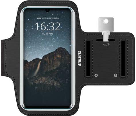 bolcom hardloop armband met smartphone houder zwarte