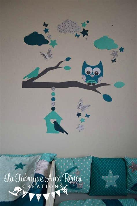 stickers muraux chambre bébé garçon stickers hibou chouette décoration chambre enfant bébé