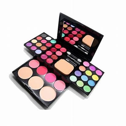 Makeup Transparent Kit Lipstick Eyeshadow Palette Background