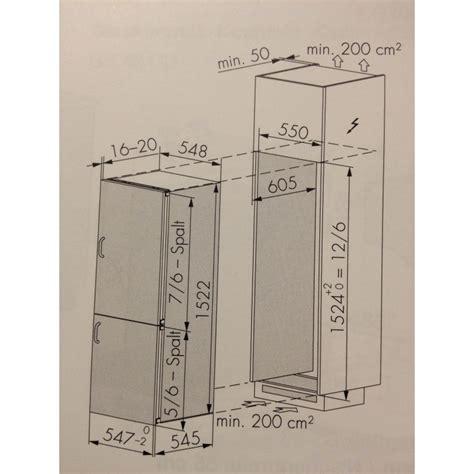 Kühlschrank Mit Separatem Gefrierfach by V Zug Futura K 252 Hlschrank Mit Separatem Gefrierfach Ch Norm