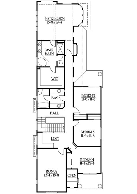 narrow lot home plan  options jd