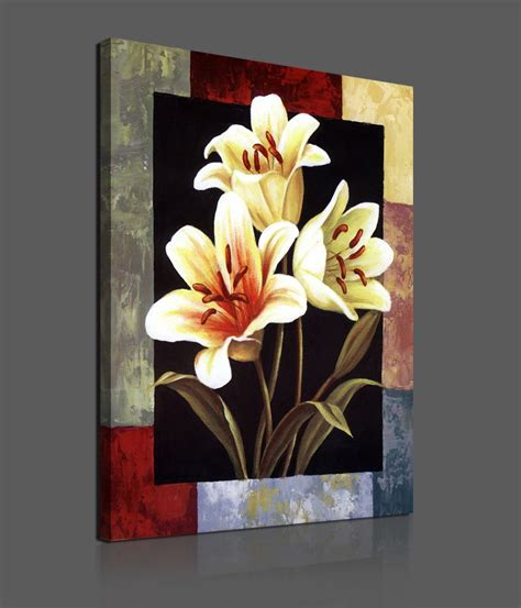 Paintings Home Decor by Flower Paintings On Canvas Pieces Modern Canvas Painting