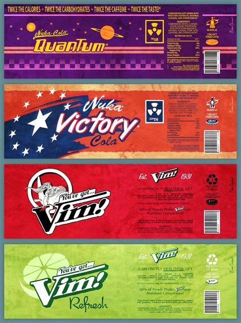fallout soda labels   mega bored today  decided